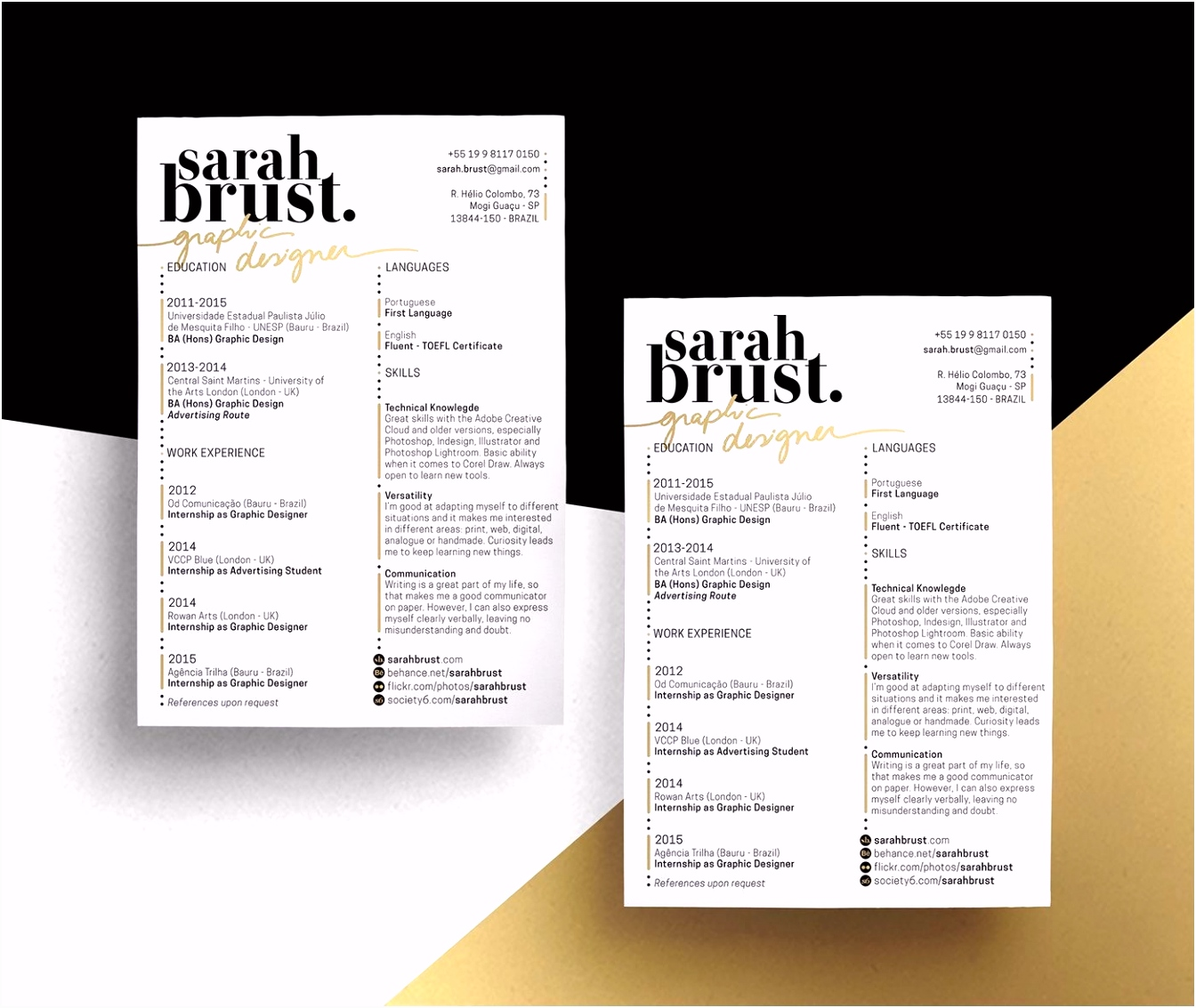 Graphic Design Resume Template Awesome Web Designer Resume Word