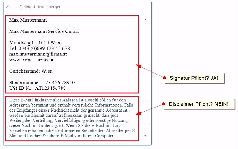 E Mail Disclaimer Pflicht oder nicht [Fragen Antworten inkl