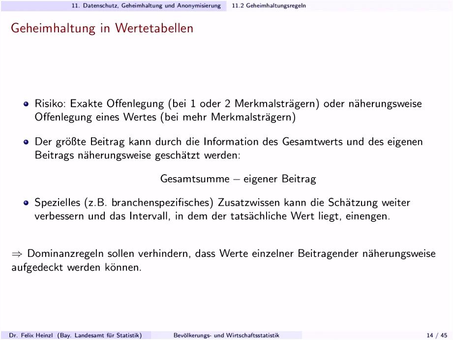 11 Datenschutz Geheimhaltung und Anonymisierung PDF