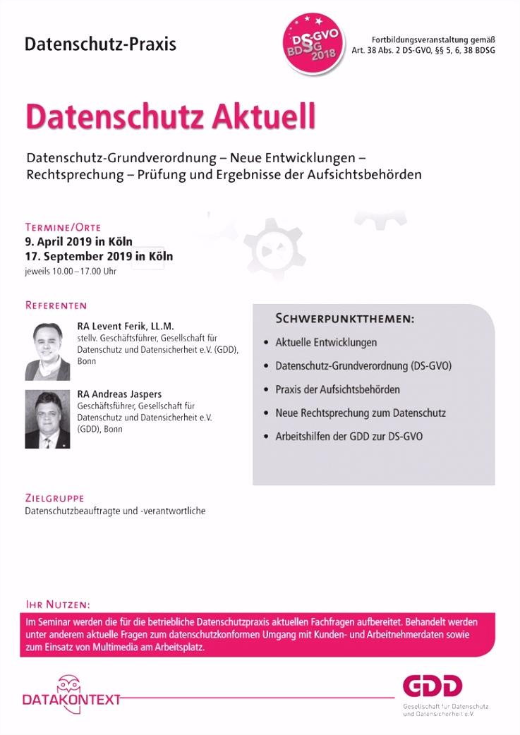 Beschäftigtendatenverarbeitung nach DS GVO und BDSG 2018