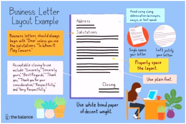 Business Letter Layout Example