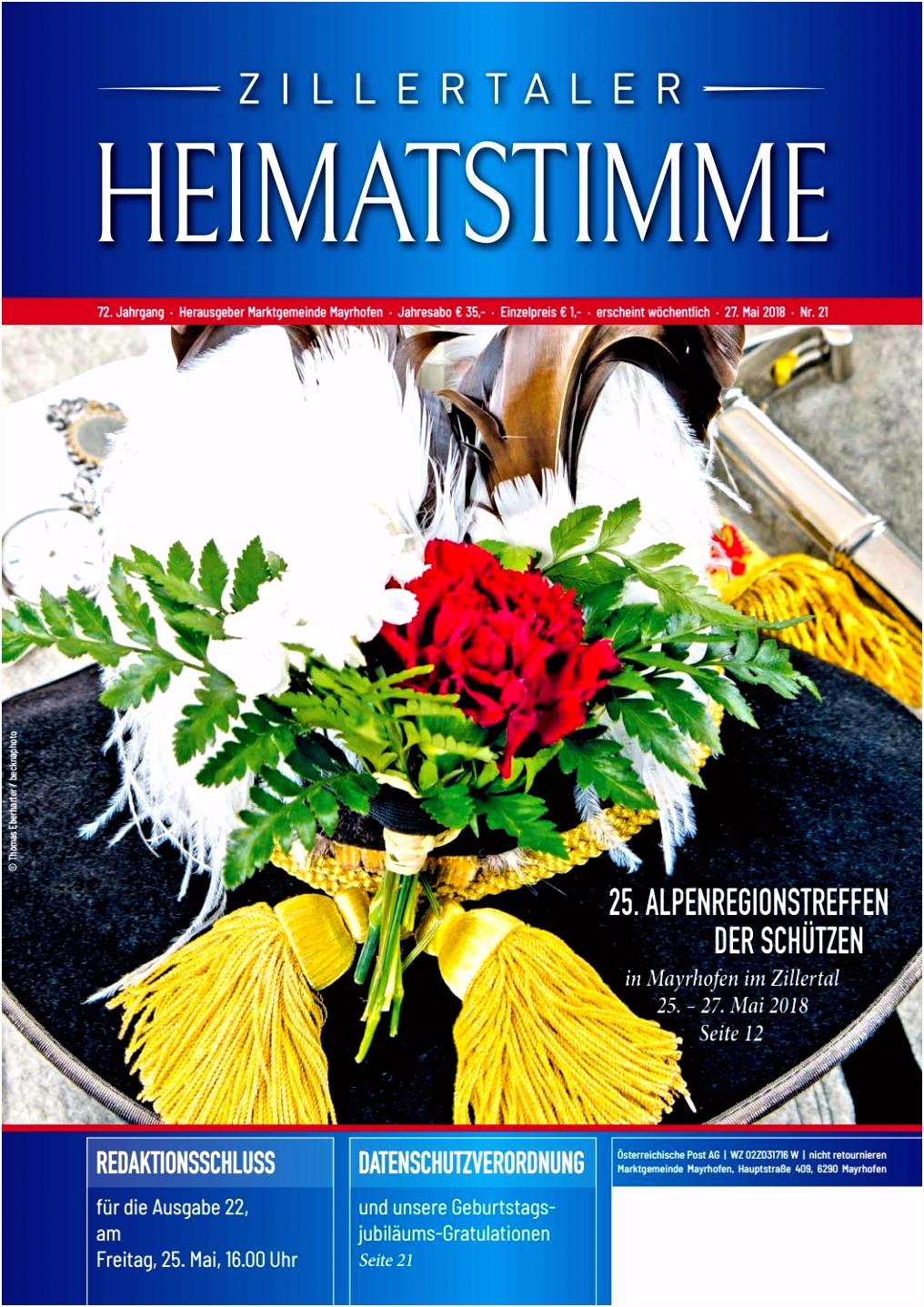 Zillertaler Heimatstimme Ausgabe 21 2018 by Zillertaler