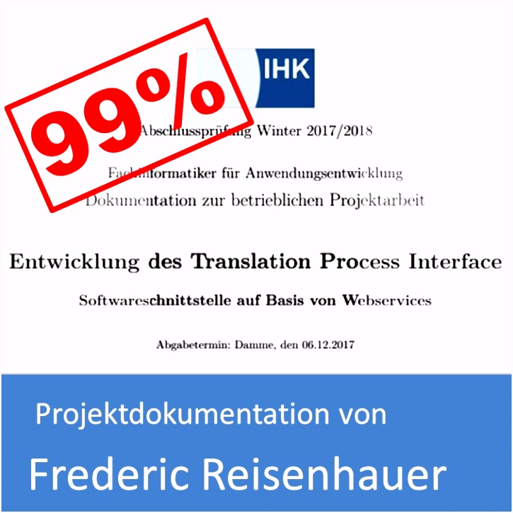 Projektdokumentation von Frederic Reisenhauer mit bewertet