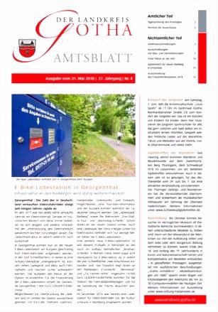 Amtsblatt des Landkreises Gotha Nr 08 2018 vom 31 05 2018 by