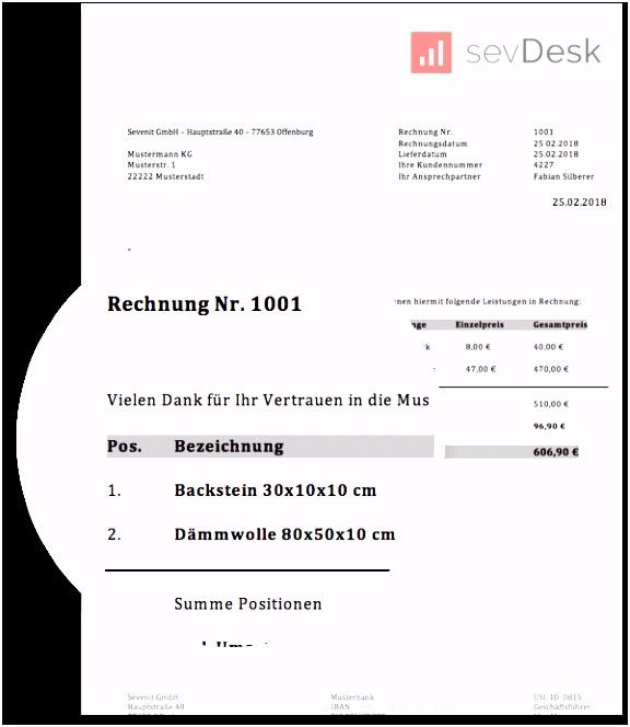 Rechnungsvorlage für Privatpersonen kostenlos herunterladen