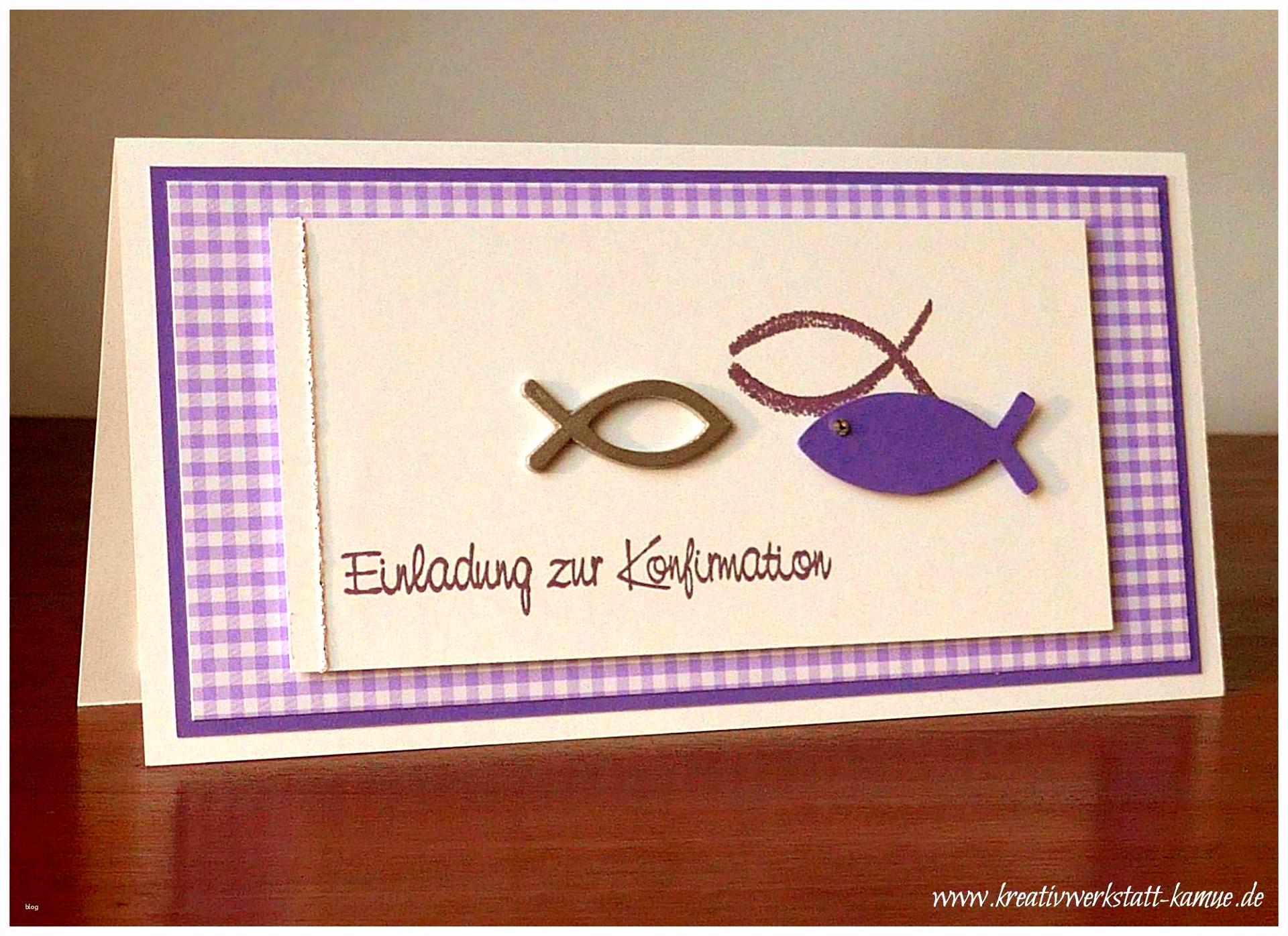 Konfirmation Einladung Basteln Schön Einladungskarten Zum Selber