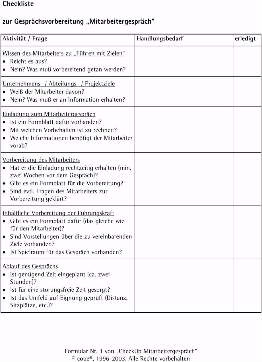 Jahresgespräch Vorlage Best Checkliste Zur Gesprächsvorbereitung