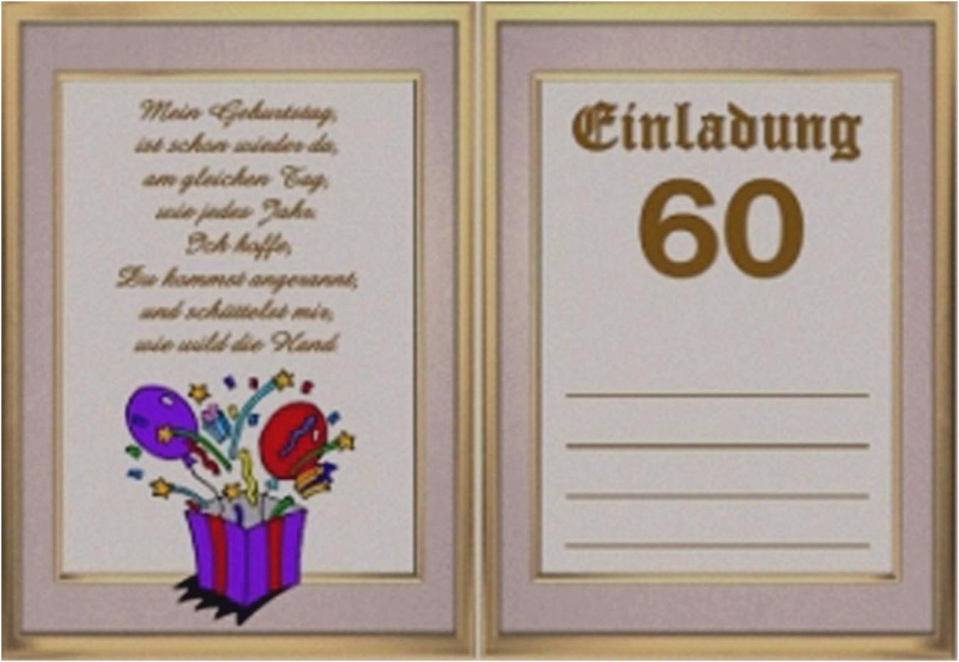 Einladungskarten 60 Geburtstag Kostenlos