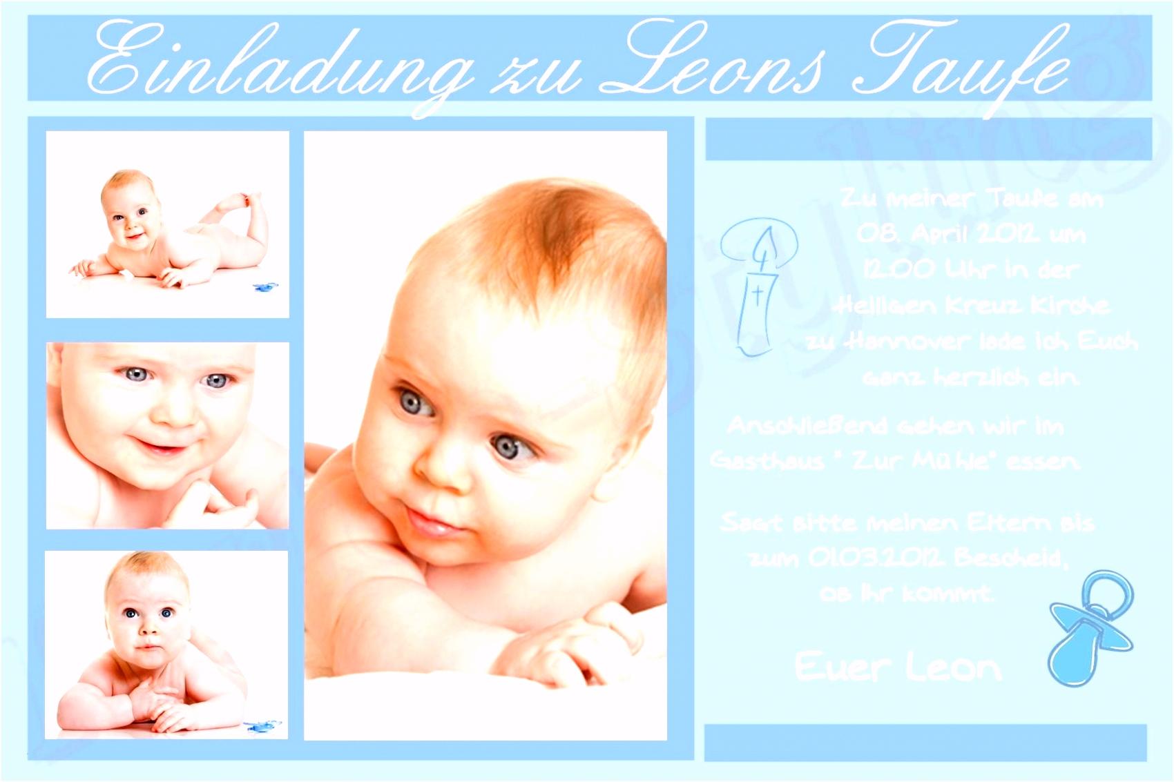 Einladungskarten Taufe Vorlagen Frisch Taufkarte Text Genial