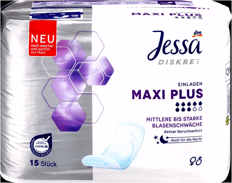 Jessa Diskret Einlagen Maxi Plus 15 St dauerhaft günstig online
