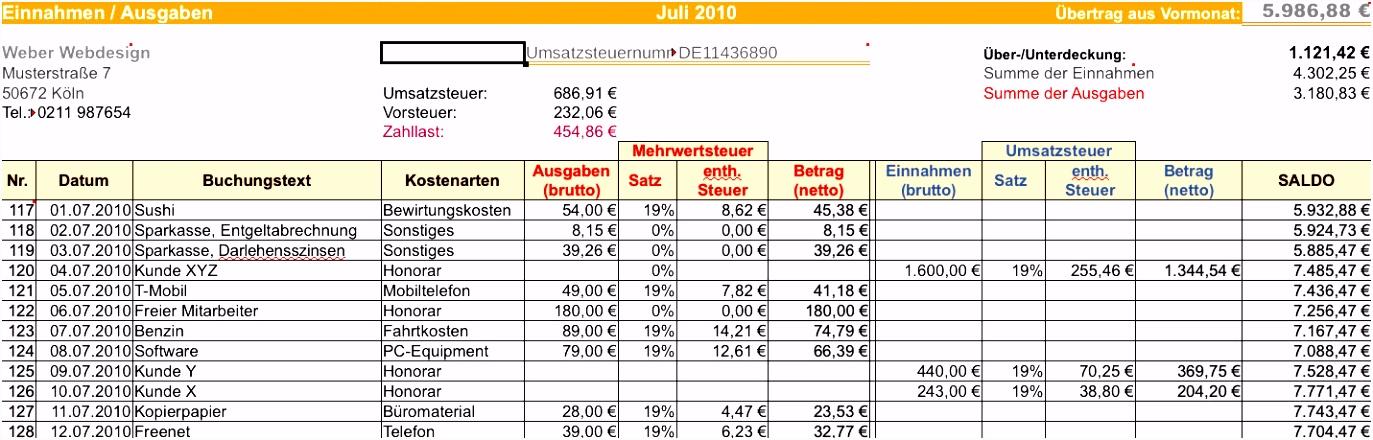 Belegungsplan Excel Erstellen Excel Tabelle Einnahmen Ausgaben