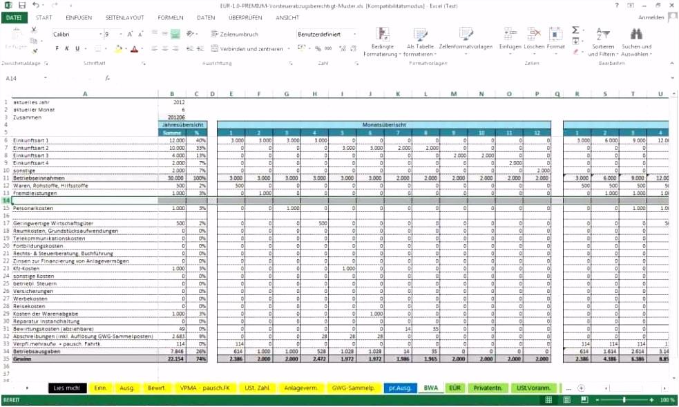 57 Schönste Einnahmen Ausgaben Rechnung Vorlage Kleinunternehmer