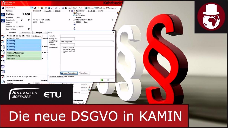Datenschutz Grundverordnung DSGVO in KAMIN