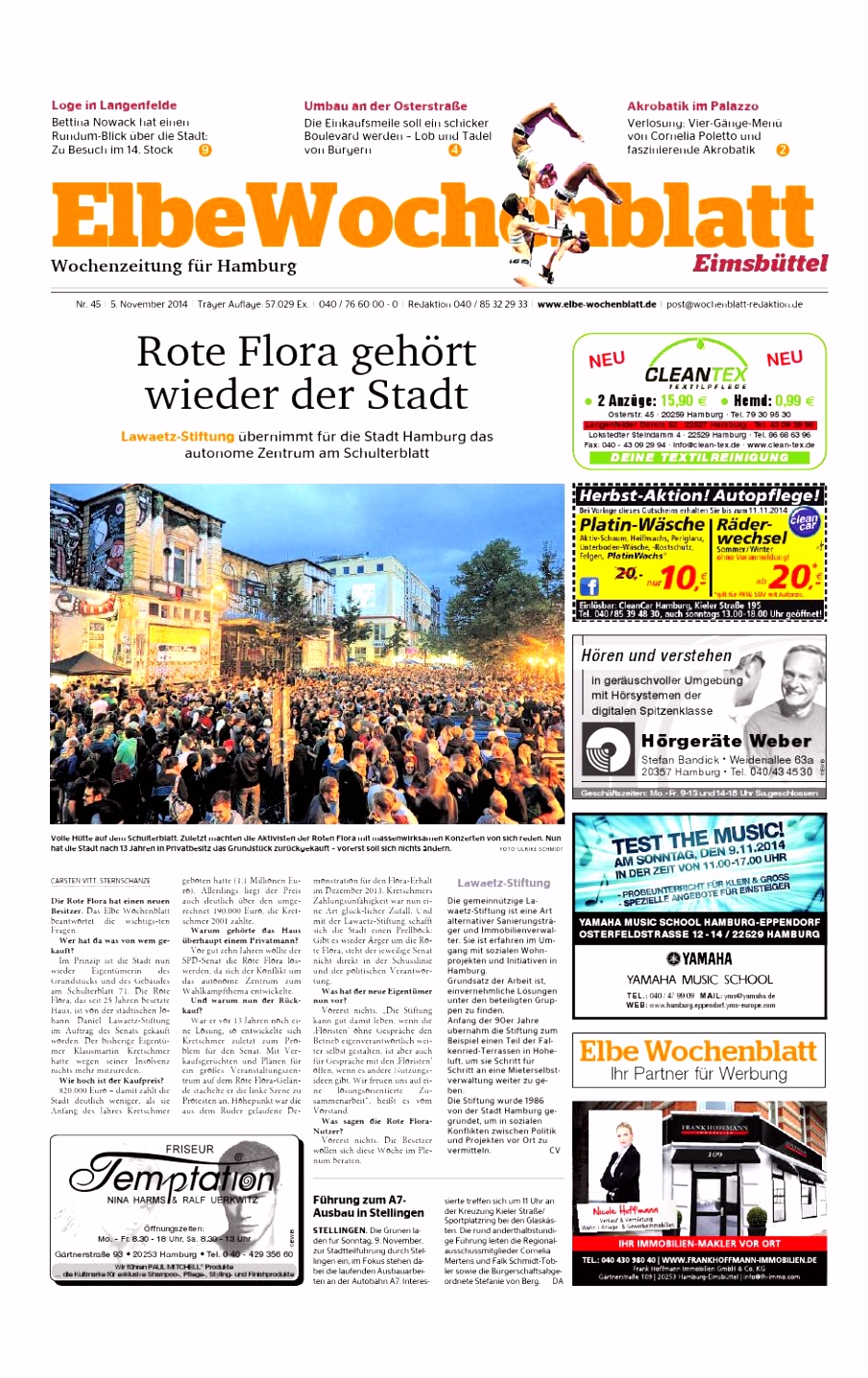 Eimsbüttel KW45 2014 by Elbe Wochenblatt Verlagsgesellschaft mbH