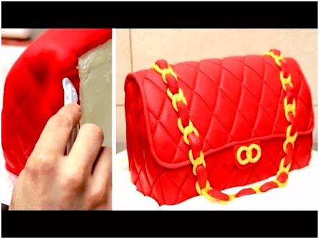 Fashion Bag Cake How To Make Torta Bolso by CakesStepbyStep