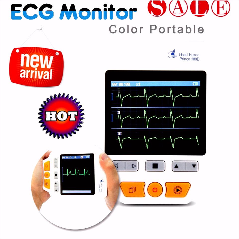 Mobiles EKG Herz Gerät Monitor Elektrokardiogramm ECG Heard Observer