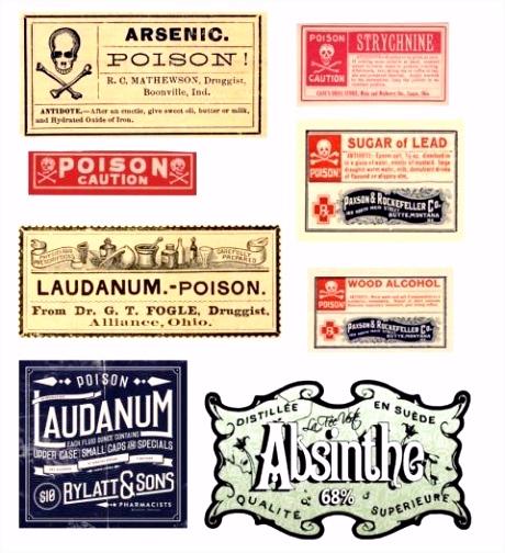 Vintage Etiketten Vorlagen