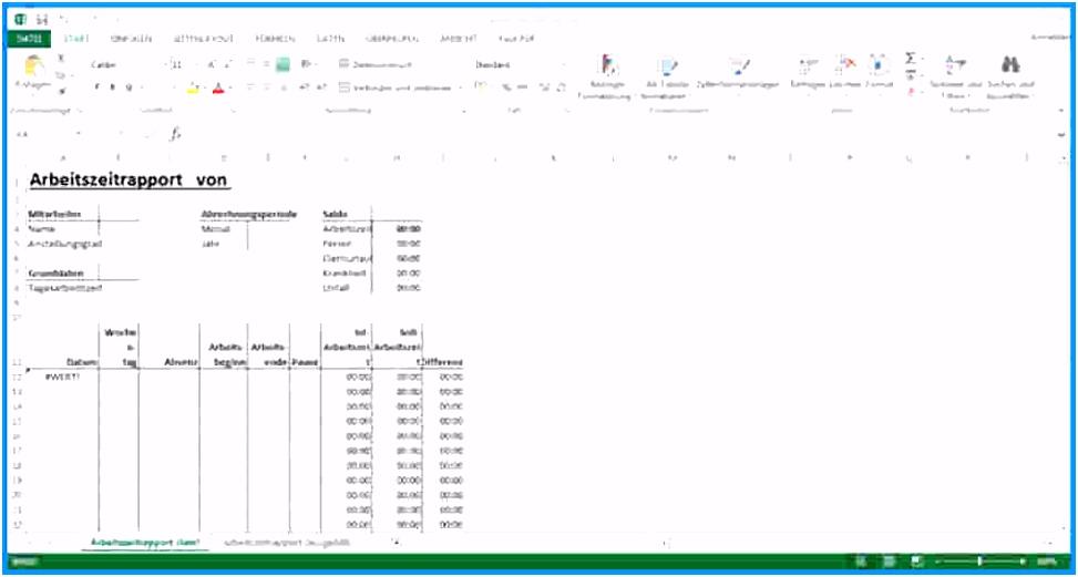 Stundenzettel Excel Vorlage Lovely Excel Zeiterfassung Vorlage – Xua