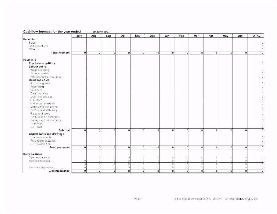 Microsoft Excel Cash Flow Statement Template – estemplate