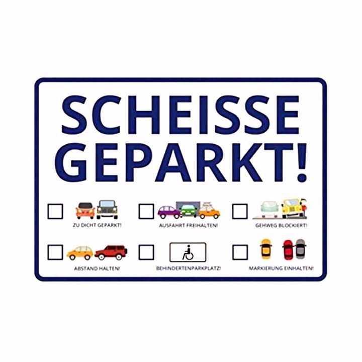 Falschparker Zettel Vorlage Hübsch Scheisse Geparkt Parkaffe Kampf