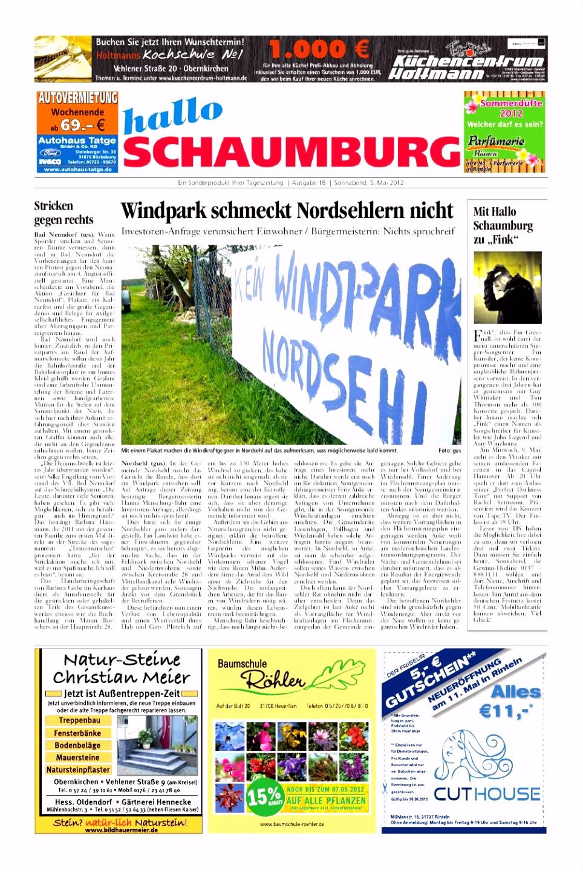 Hallo Schaumburg vom 5 Mai 2012 by Schaumburger Nachrichten