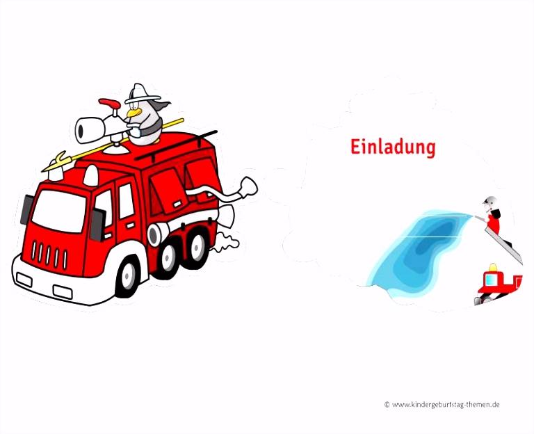 Inspirierend Einladung Geburtstag Feuerwehr – handloomub