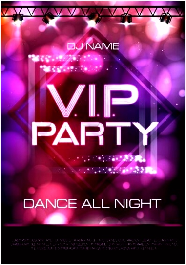EPS Datei Vip Party Plakat Vorlage 02 kostenlos Name VIP Party