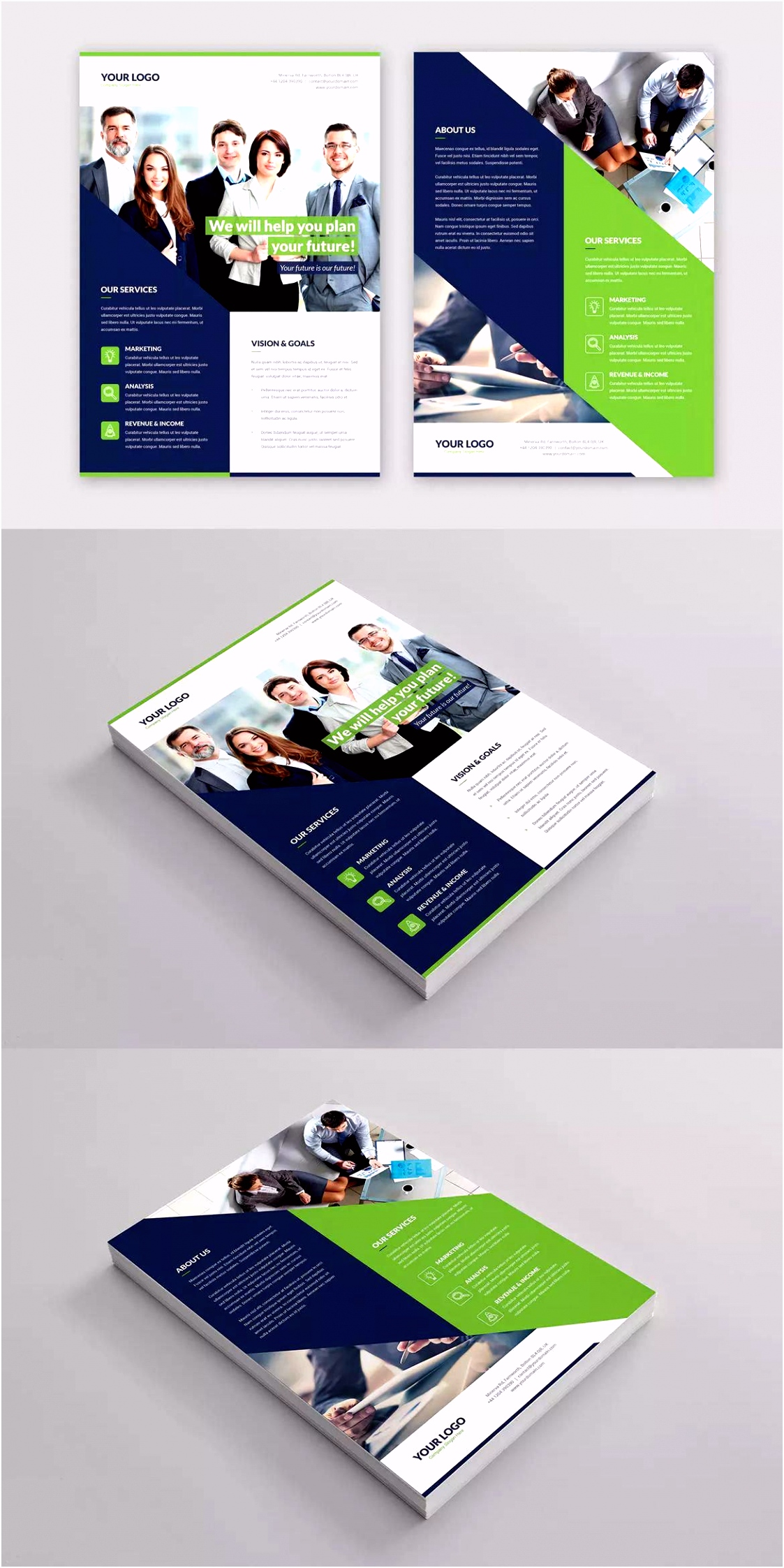 pany Flyer Template PSD A4 unlimited s