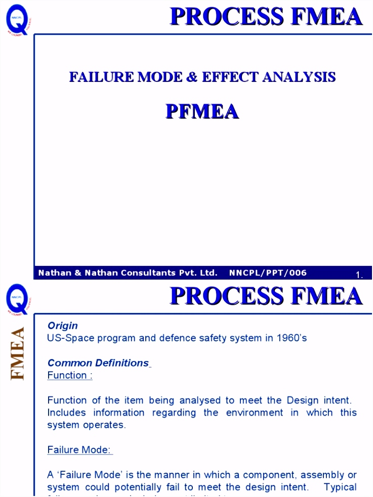 Fmea Process Industries