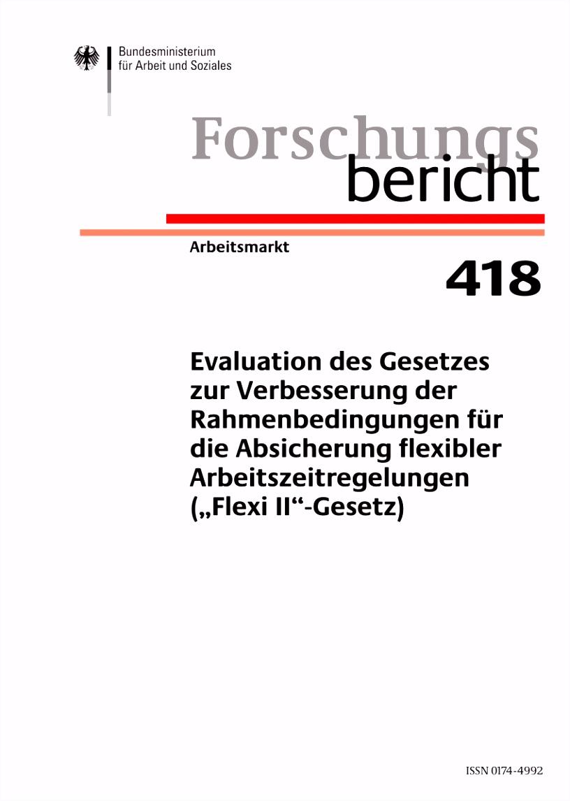 PDF Evaluation des Gesetzes zur Verbesserung der Rahmenbedingungen