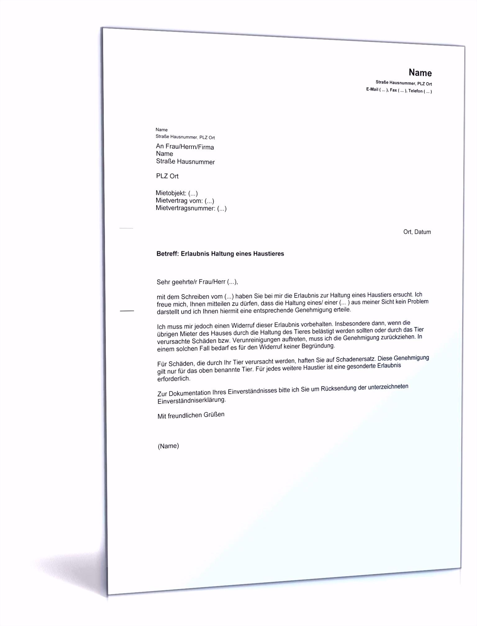 Schön Kündigung Mietvertrag Vorlage Mieterbund