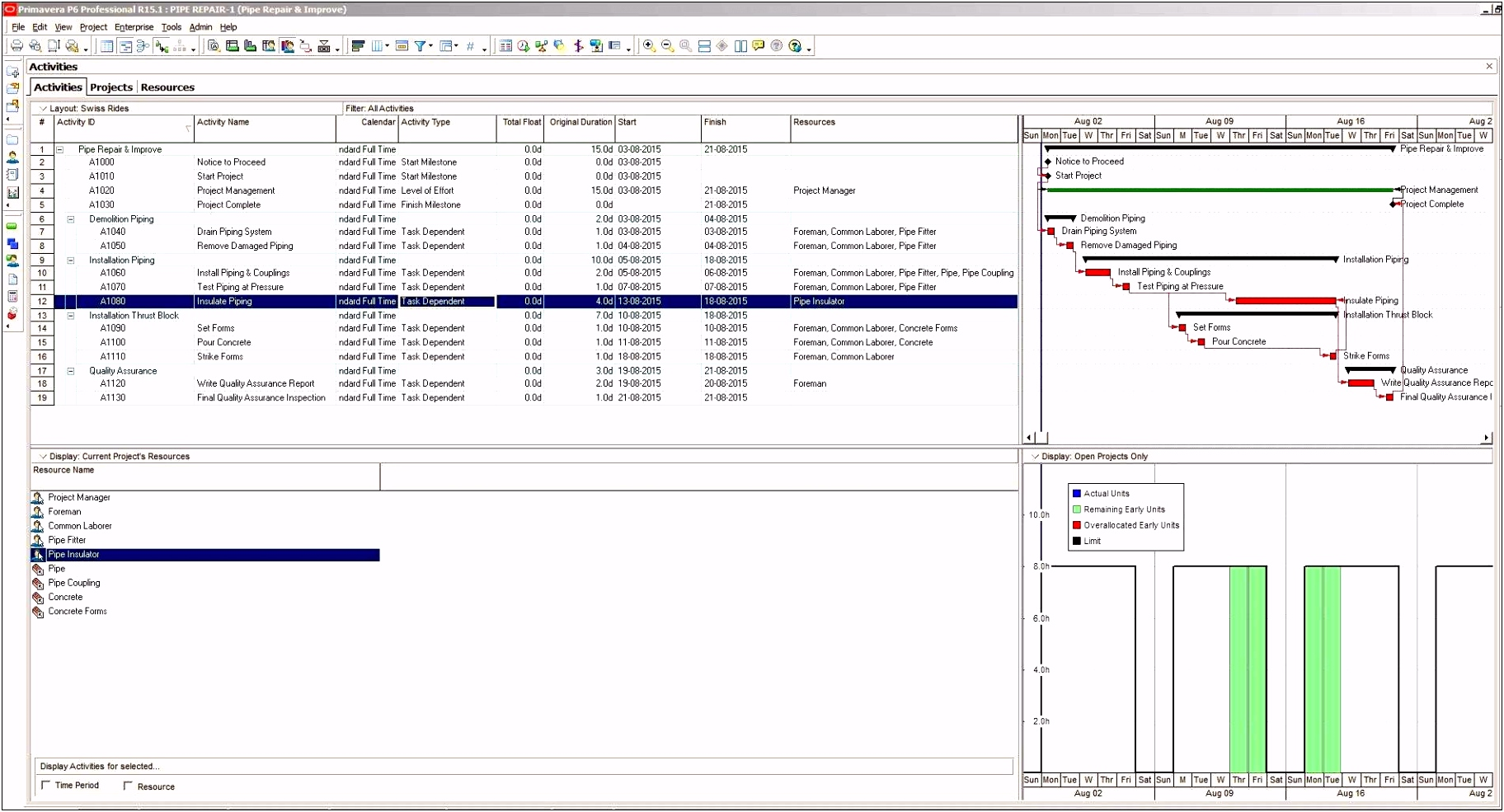 Ms Excel Gantt Chart Template Free Download 30 Best Project 2007
