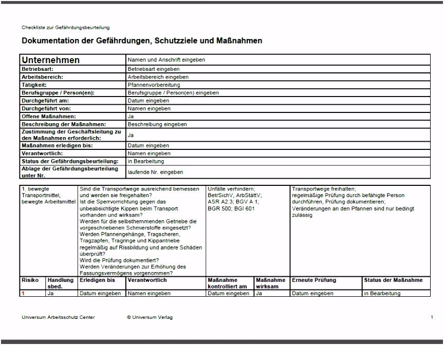 Vertrag Vorlage digitaldrucke Gefährdungsbeurteilung