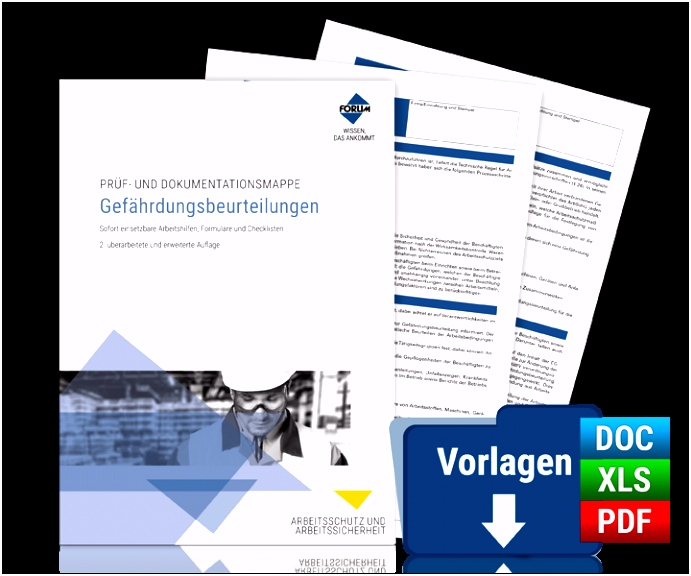 Prüf und Dokumentationsmappe Gefährdungsbeurteilungen