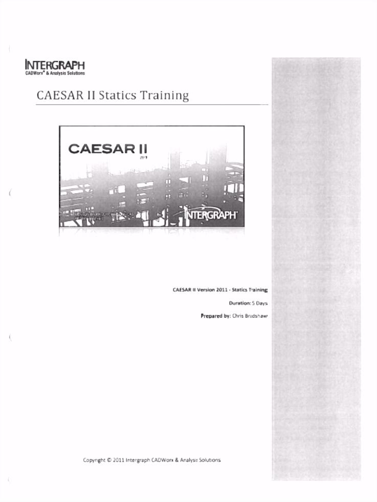 Caesar II Static Training puter File