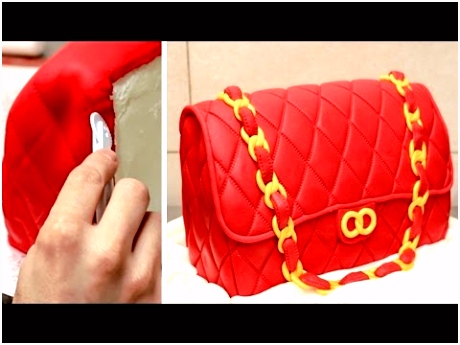 Fashion Bag Cake How To Make Torta Bolso by CakesStepbyStep