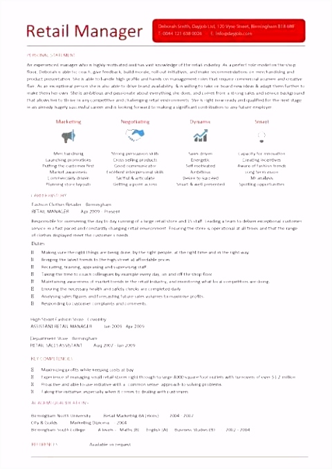 Curriculum Template Examples Cv Outline format Resume format In Word