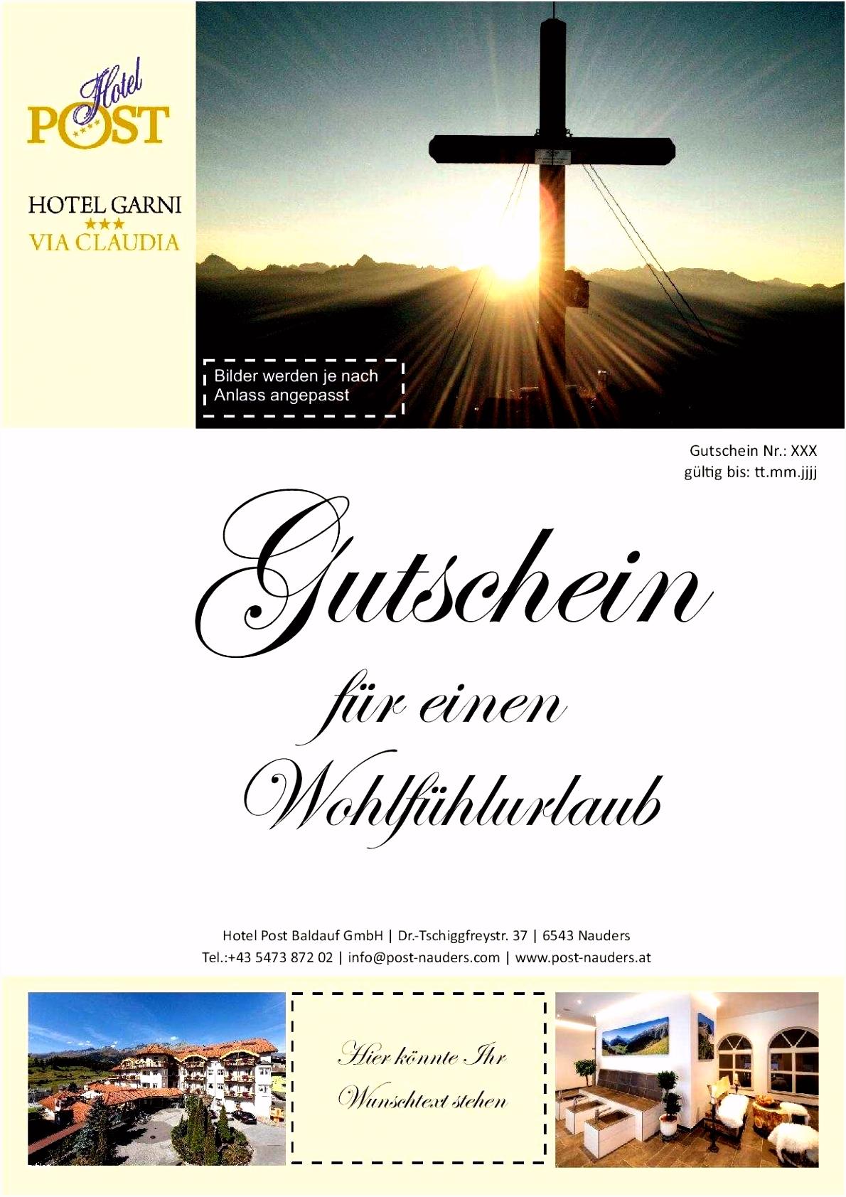 Gutscheinvorlagen Hotel