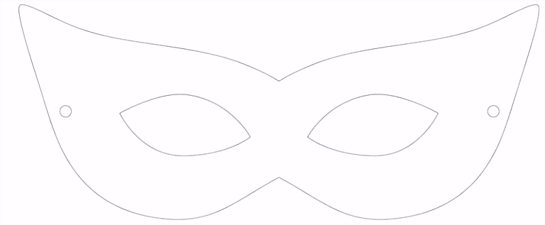 Genial Masken Selber Basteln Vorlagen