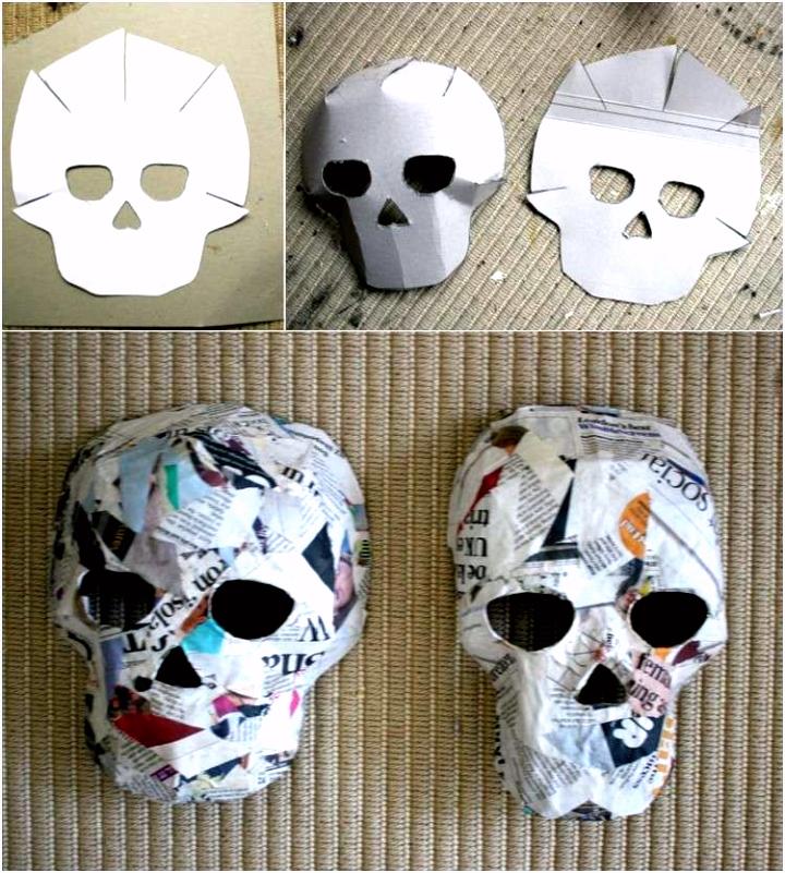 Halloween Masken Basteln Vorlagen Vorlagen Und Anleitung Für Pappmache Masken Zum Basteln Mit E2tr76npe3 Nhrkvvkrg2
