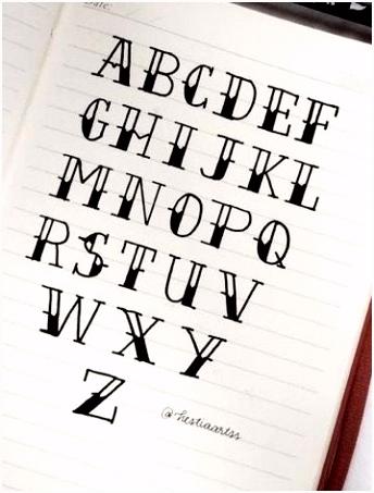 Alphabet hand lettering Bullet Journaling Pinterest