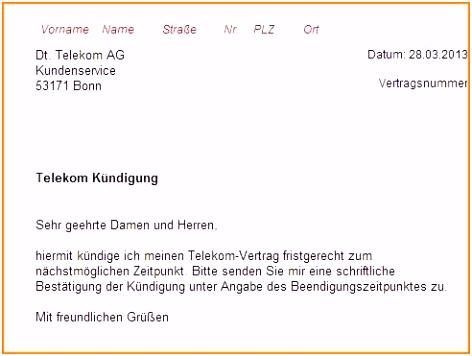 Handyvertrag Kundigen Vorlage Telekom 19 Kündigung Telefon Muster V5ol71bag2 Umkvvuxmts