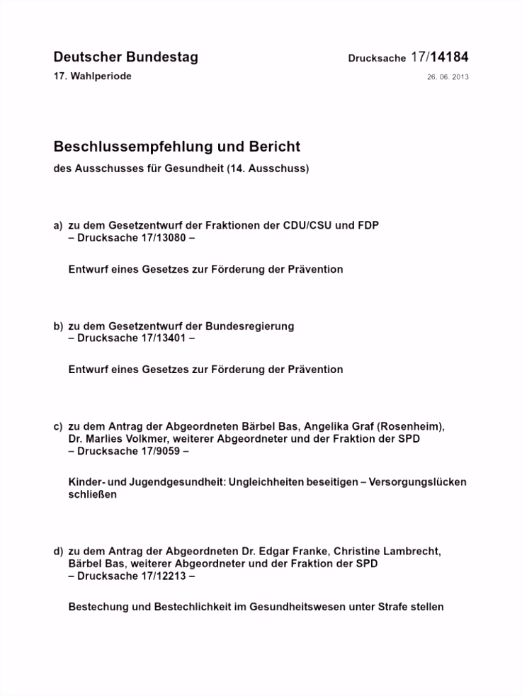 Bundestag Drs 17
