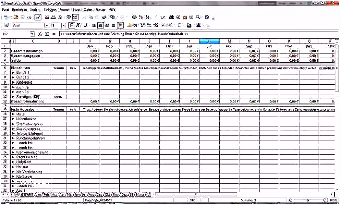 34 Niedliche Bilder Der Haushaltsplan Excel Vorlage