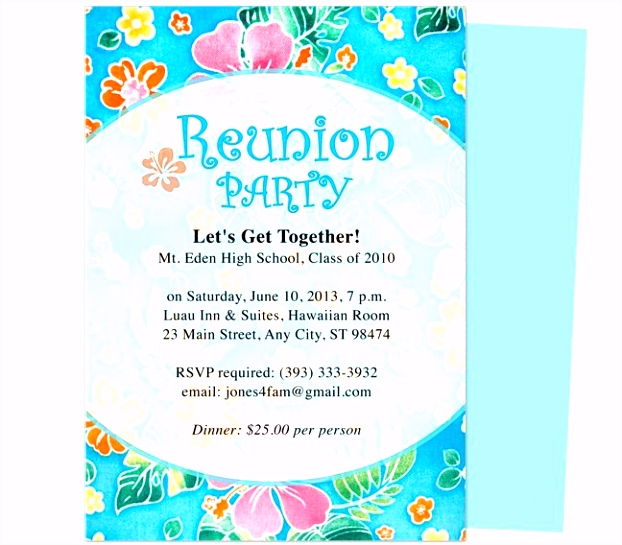 Festive Reunion Party Invitation Template edits with WORD Publisher