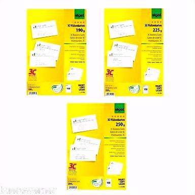 Visitenkarten Papier Büro & Schreibwaren Büro & Schreibwaren