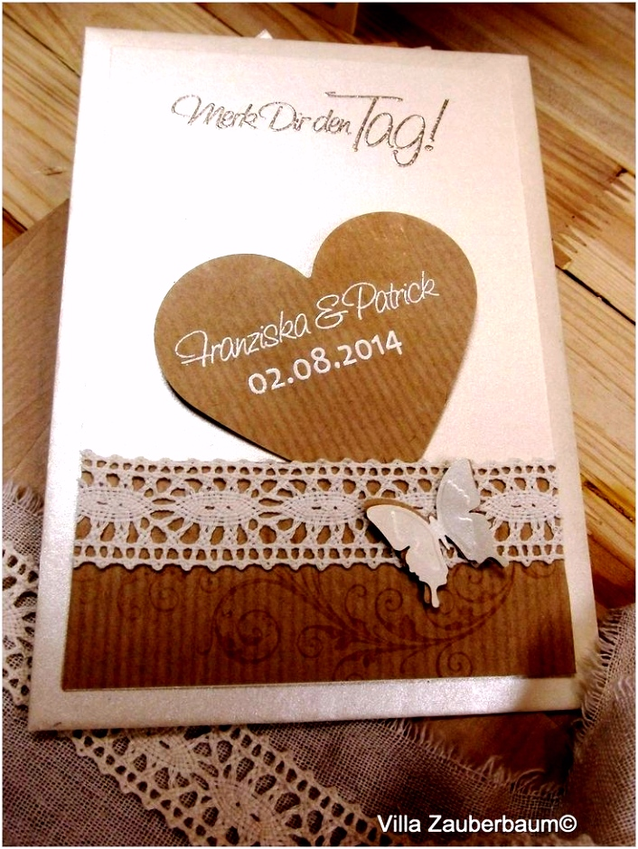 Hochzeitseinladungen Vintage Selber Machen Einladungskarten Hochzeit
