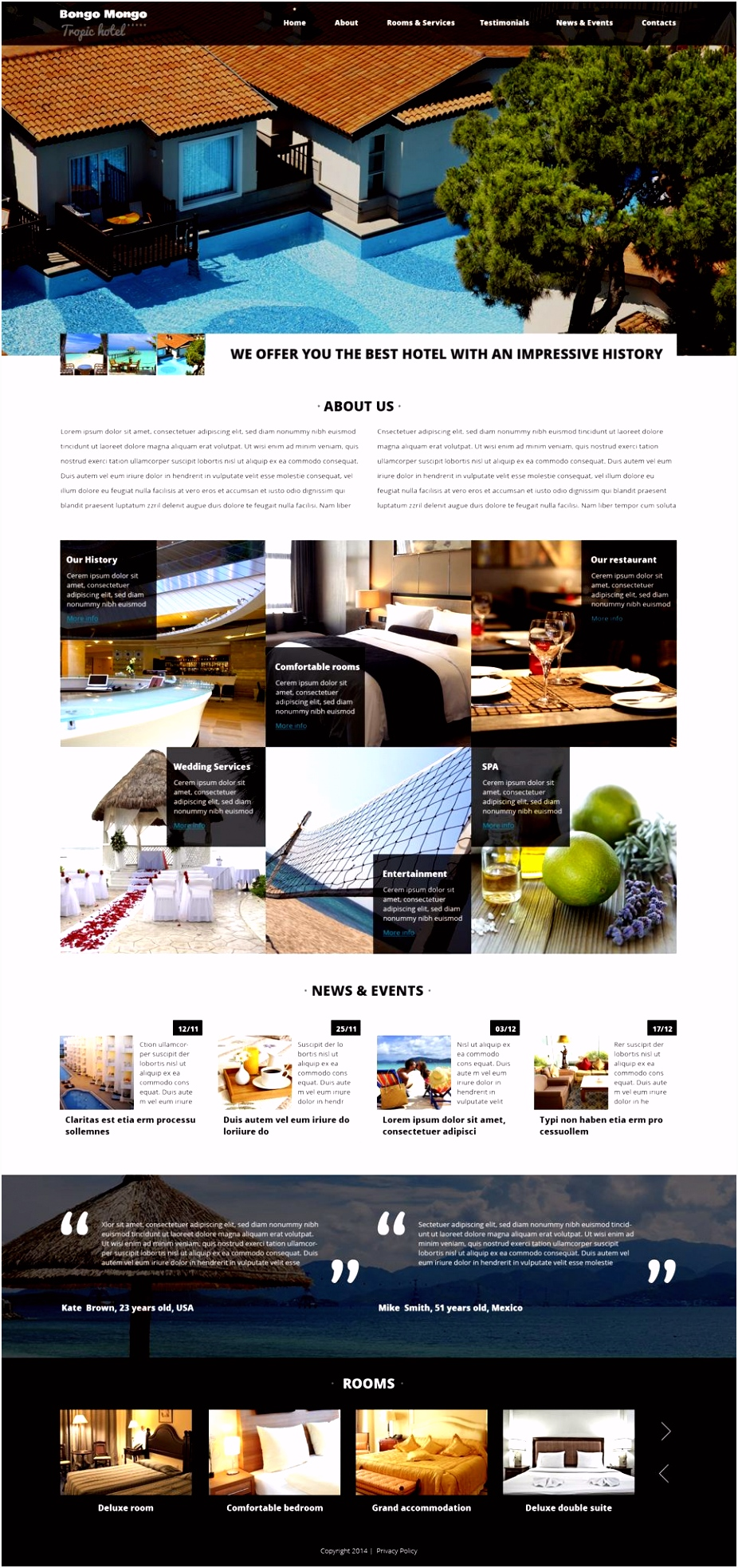 Hotels Drupal Template Design Saves Pinterest