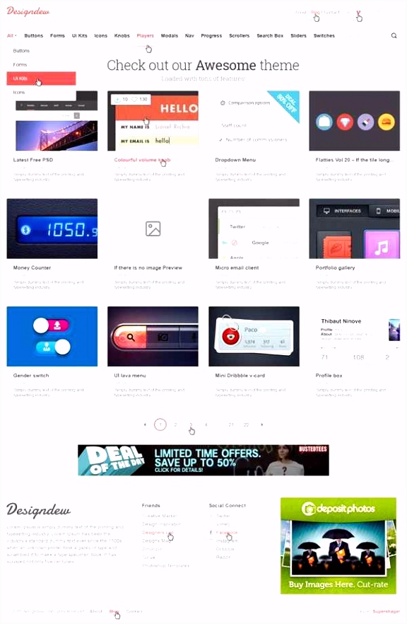 23 Free Website Templates HTML5 Model