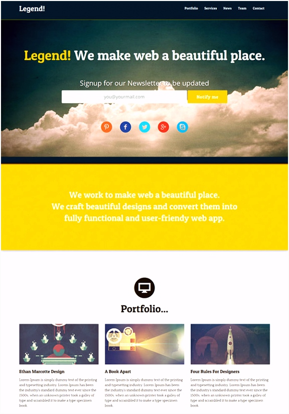 Free e Page HTML Template Awesome Design Verge is A Free HTML5